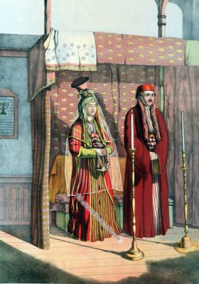 Hochzeit, Jude, Jüdische Trachten, Osmanisches Reich, Historische Kleidung, Türkei, Kostümgeschichte