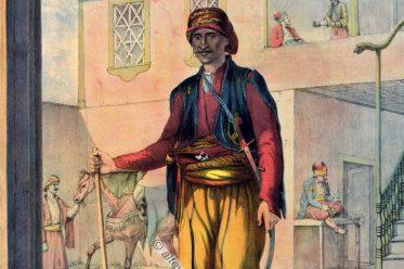 Kavass, Cavass, Osmanische Trachten, Osmanisches Reich, Historische Kleidung, Türkei, Kostümgeschichte