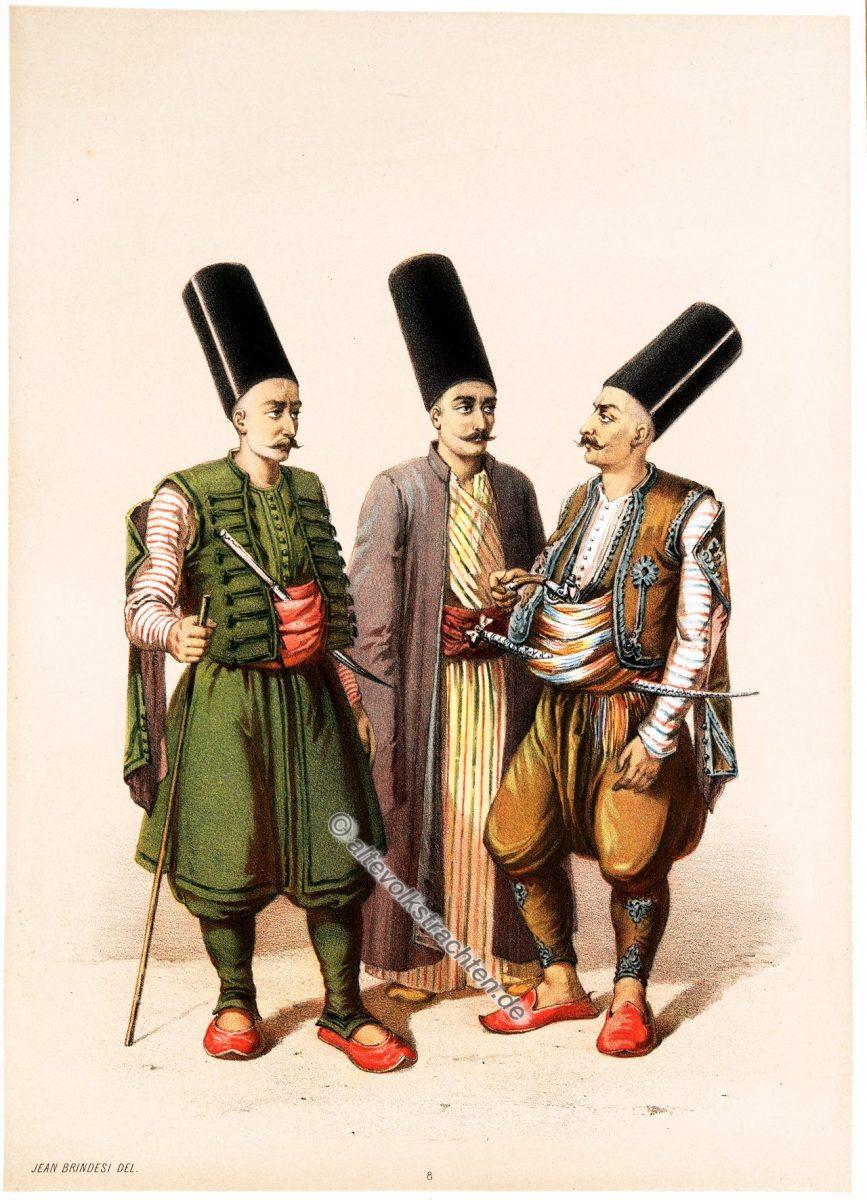 Khoumbaradji, Elbicei Atika, Illustrator, Jean Brindesi, Graveur, Jules Mea, Constantinople, Konstantinopel, Kostüme, Kostümgeschichte