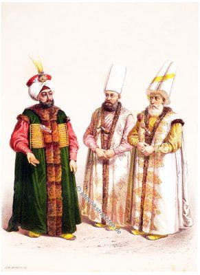 Padichah, Kehaya-Bey, Sadr' Azam, Elbicei Atika, Illustrator, Jean Brindesi, Graveur, Jules Mea, Constantinople, Konstantinopel, Kostüme, Kostümgeschichte