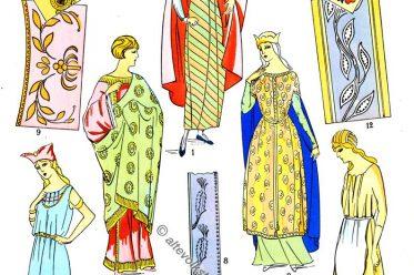 Stoffmuster, Stickerei, Tunika, Merowinger, Gallien, Modegeschichte, Paul-Louis de Giafferri