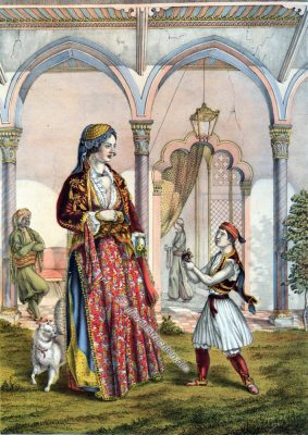Türkische Dame, Osmanische Trachten, Osmanisches Reich, Historische Kleidung, Türkei, Kostümgeschichte