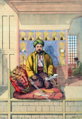 Schreiber, Osmanische Trachten, Osmanisches Reich, Historische Kleidung, Türkei, Kostümgeschichte
