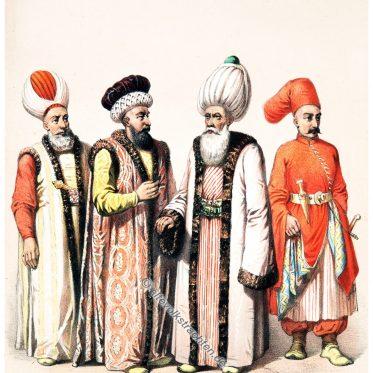 Osmanische Würdenträger. Großmufti u.a. 1850