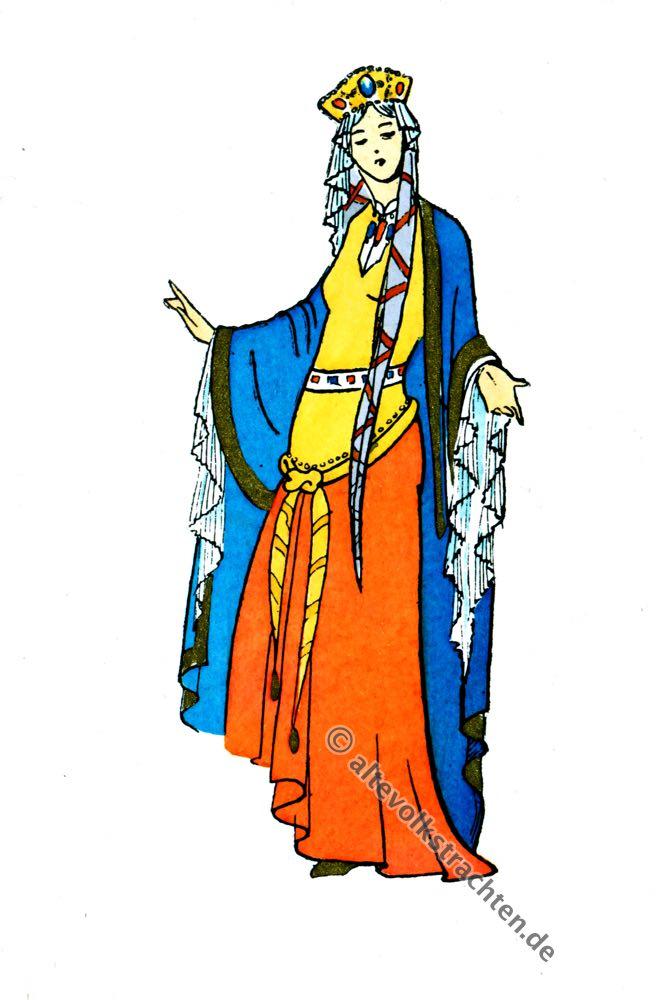 Gallien, Merowinger, Königin, Prinzessin, Krone, Paul-Louis de Giafferri