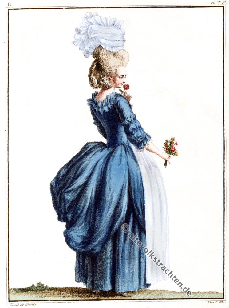 Robe à l'anglaise, Rokoko, Modegeschichte, Kostümgeschichte, 18. Jahrhundert