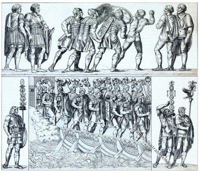 Legionssoldat, Legionäre, Antike, Rom, Militär, Auguste Racinet, Kostümgeschichte