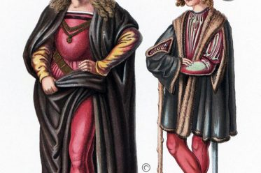 Männertrachten, 15. Jahrhundert, Italien, Renaissance, Hefner-Alteneck