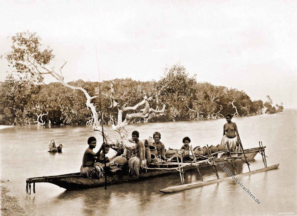 Native, dress, Tupuselei, Papuasia, Papua New Guinea, J. W. Lindt
