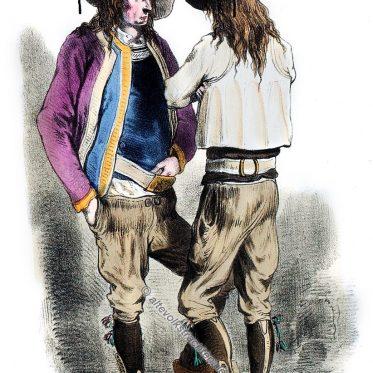 Trachten von Le Faouët, Bretagne 1865.