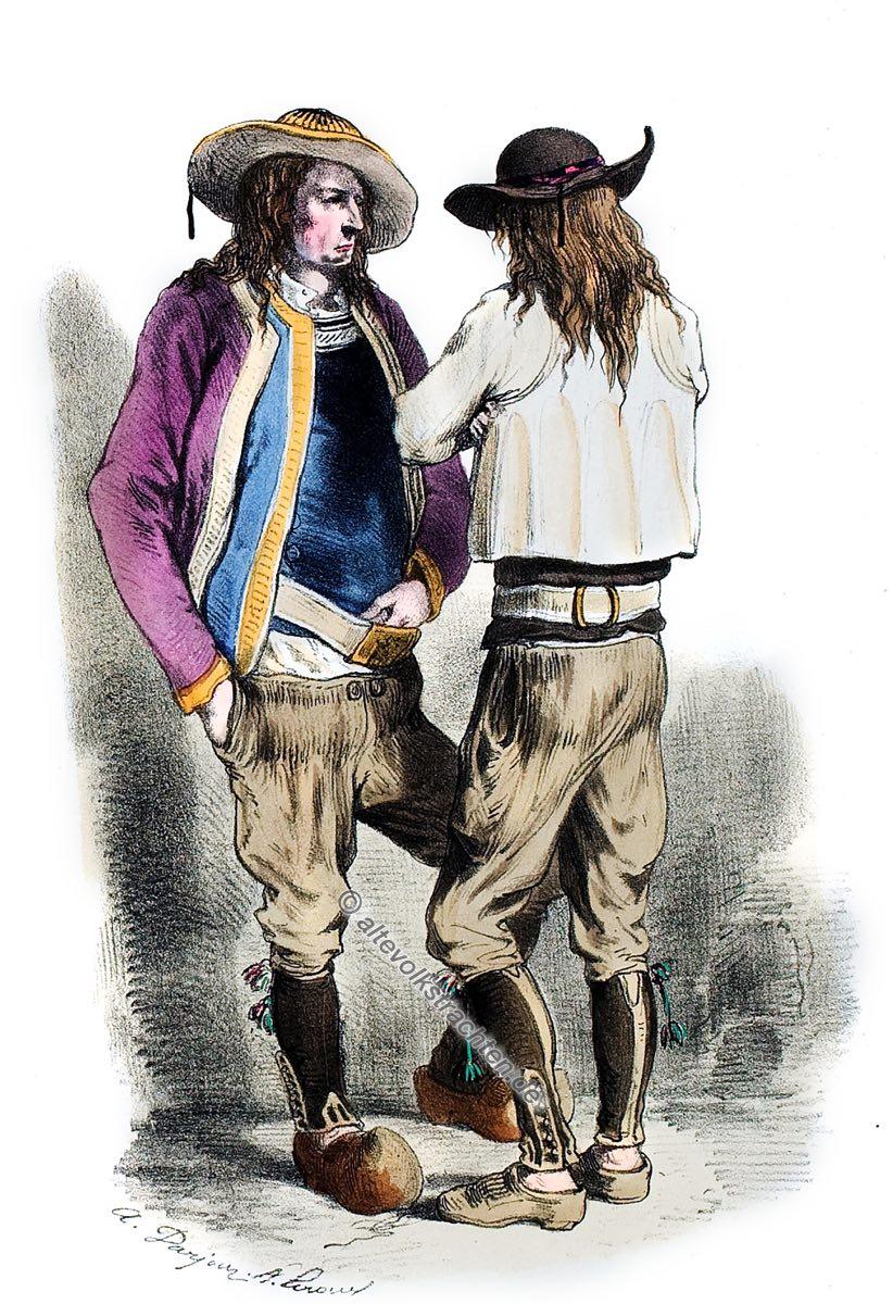 Trachten, Faouët, Bretagne, Alexandre Leroux, Alfred Darjou, Kostüm,Historische Tracht, Frankreich