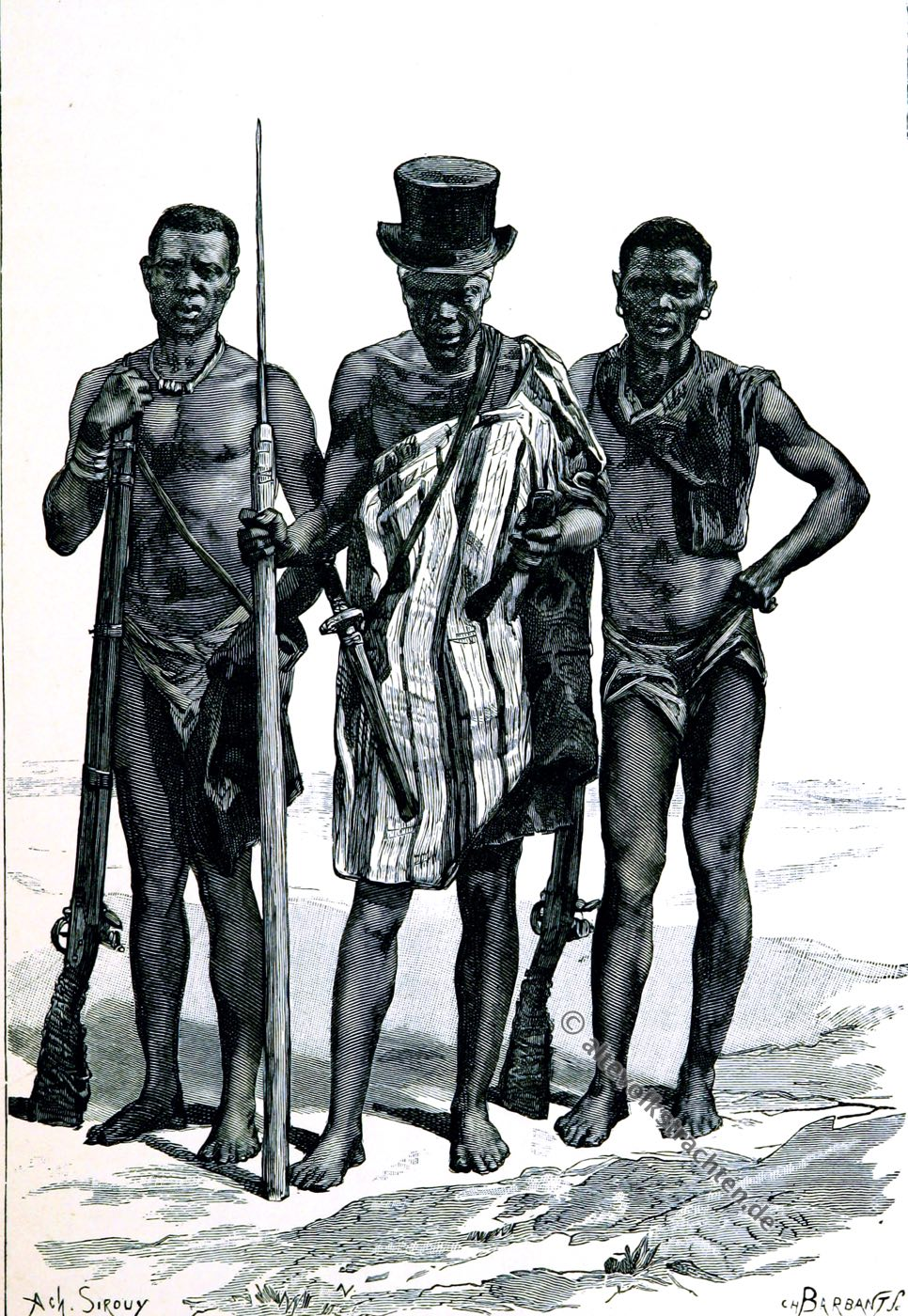 Felup, Fulup, Afrika, Senegambia, Trachten, Kostüme, Élisée Reclus