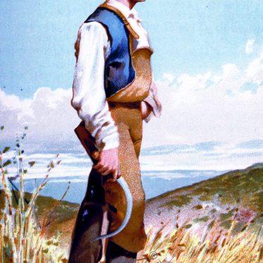 Weizen Bauer aus Huelva, Spanien um 1891.