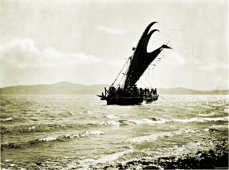 Lakatoi, Motu, vessel, Papua, New Guinea, J. W. Lindt