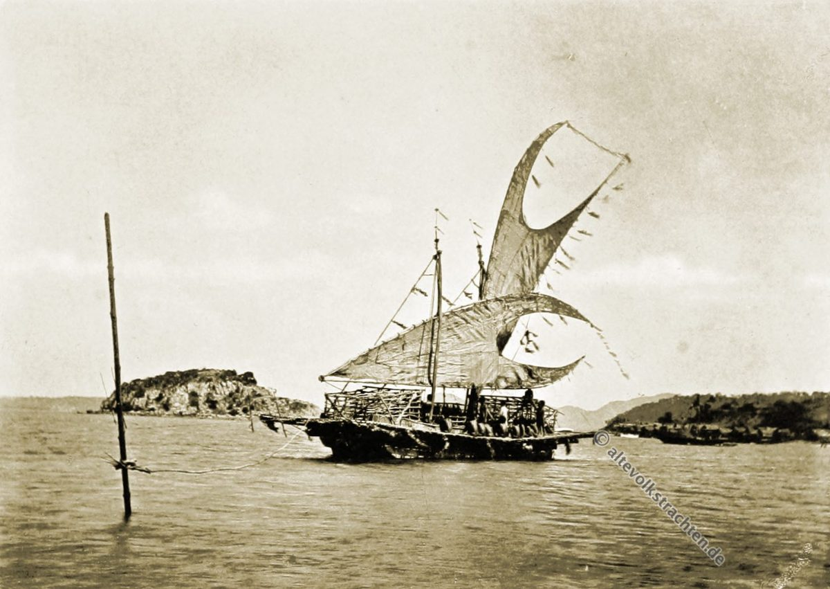 Lakatoi, Elevala Island, Motu, vessel, Papua, New Guinea, J. W. Lindt