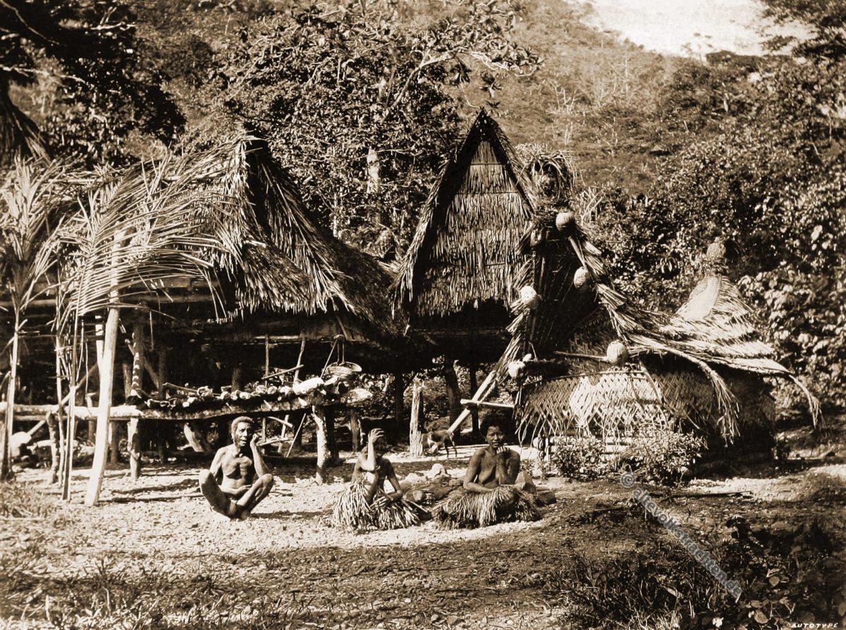 Magiri Village, Bertha Lagoon, South Cape, Papuasia, Papua New Guinea, J. W. Lindt
