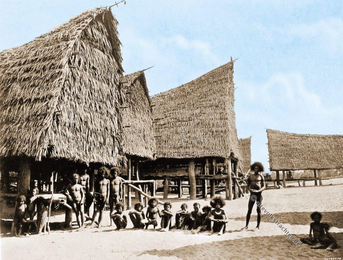 Moapa, Aroma District, Village, Papuasia, Papua New Guinea, J. W. Lindt