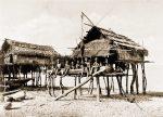 Native Houses, Koilapu, Papuasia, Papua New Guinea, J. W. Lindt