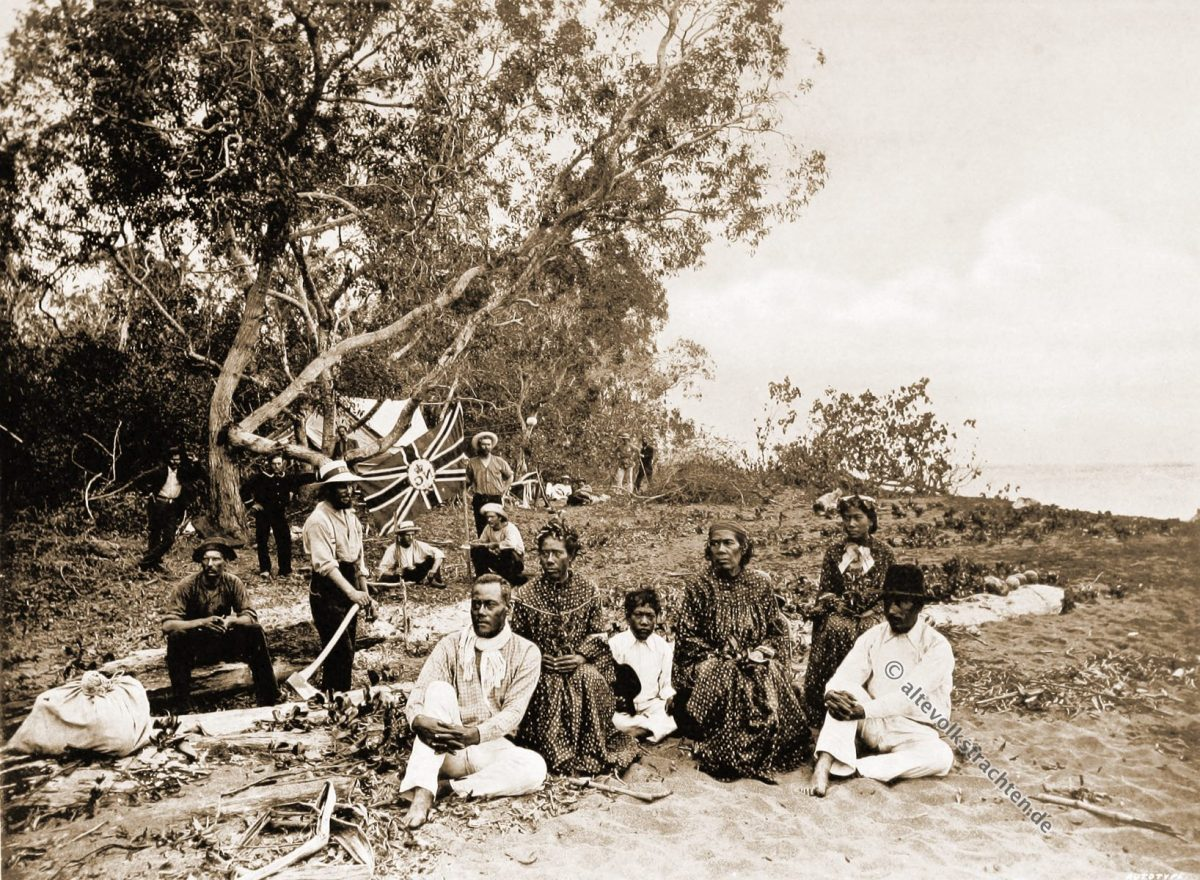 Native, Teachers, Kabade, Papuasia, Papua New Guinea, J. W. Lindt,