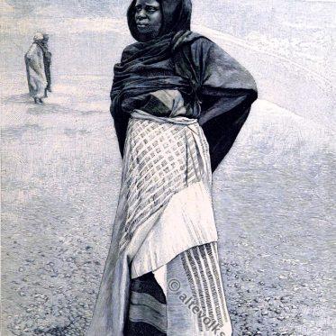 Nigeria um 1878. Frau aus dem Volk der Nupe.