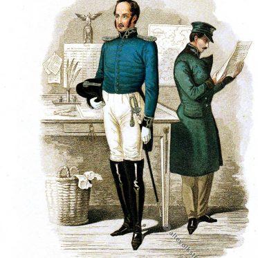 Königlich Bayerischer Postbeamter um 1843.