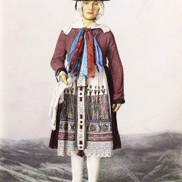 Die Schwester der Braut. Historische Slowenien Tracht.
