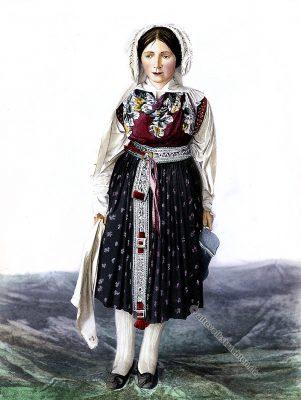 Slowenische Braut, Brautkleid, Slowenien, historische Trachten, Torvald Mitreiter