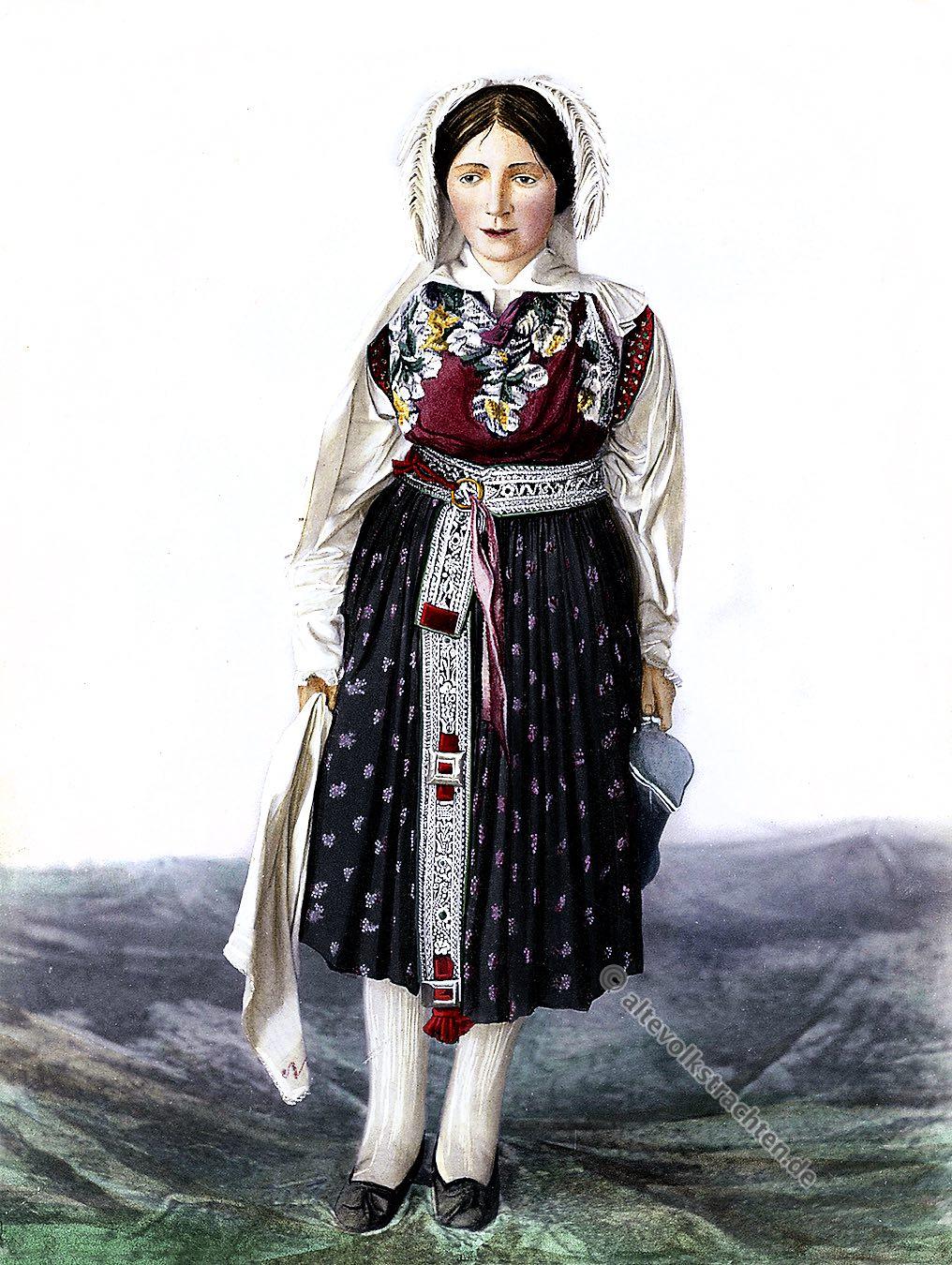 Brautkleid, Braut, Slowenien, historische Trachten, Torvald Mitreiter