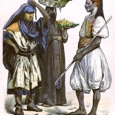Ägypten. Beduinen Mädchen, Früchteverkäuferin, Läufer.