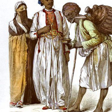 Bewohner von Port Said, Wasserverkäufer. Ägypten 19. Jh.