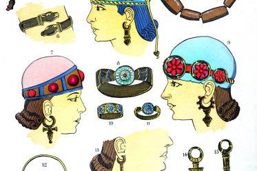 assyrien, Mesopotamien, Juwelen, Schmuck, Design, Antike, Kostümgeschichte, Paul Louis de Giafferri