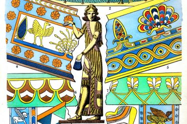 assyrien, Mesopotamien, Textilien, Stoffe, Muster, Design, Antike, Kostümgeschichte, Paul Louis de Giafferri