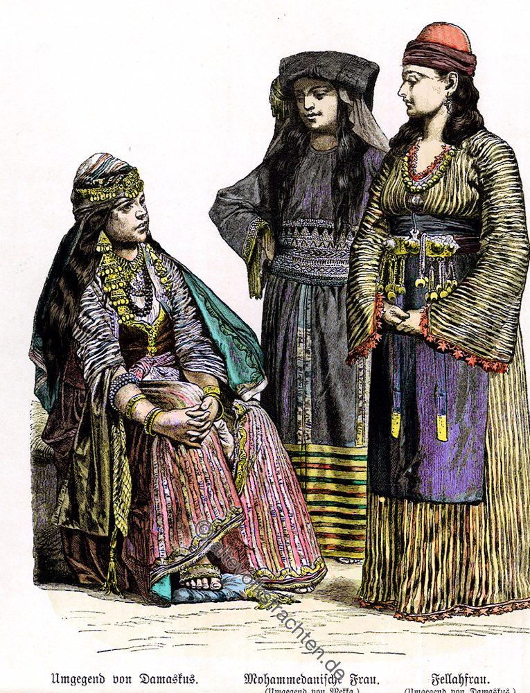 Fella, Damaskus, Saudi, Arabien, Mekka, Trachten, Kostüme, Münchener Bilderbogen, Kostümgeschichte,