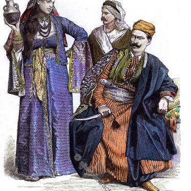 Druse, Armenisches Mädchen, Bewohner von Damaskus.