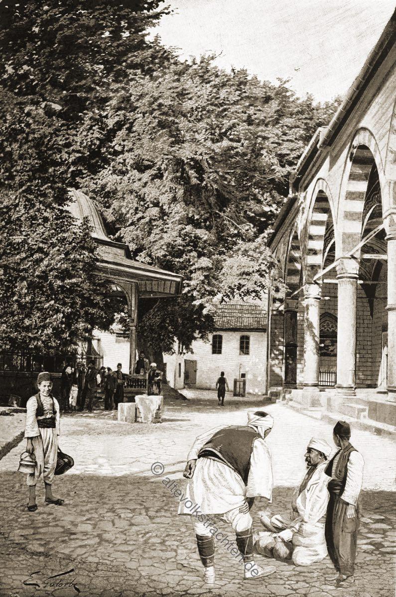 Begova, džamija, Moschee, Trachten, Bosnien, Herzegowina, Guillaume Capus, Reiseliteratur, Balkan