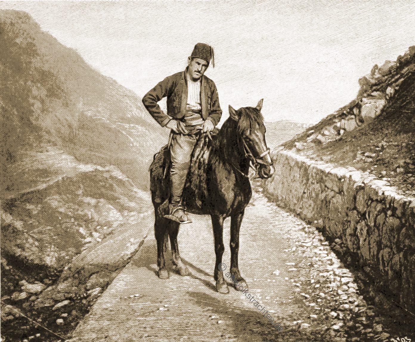 Pony, Bosnisches, Reitpferd, Trachten, Bosnien, Herzegowina, Guillaume Capus, Reiseliteratur, Balkan