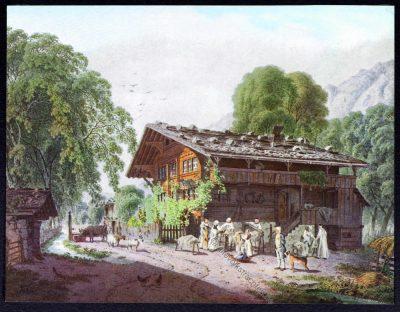 Switzerland, Peasant, Familie, Famille, laborieuse, Franz Niklaus König, Gravure
