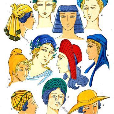 Frisuren des antiken Griechenland.