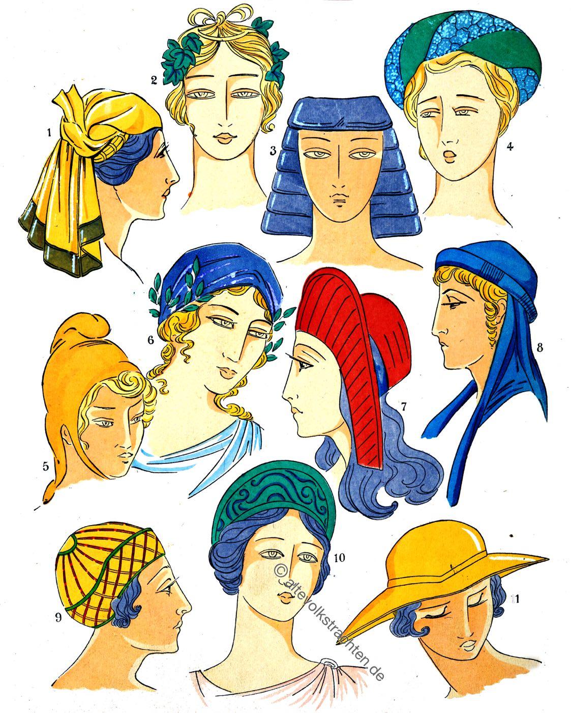 Antike, Griechenland, Frisuren, Mode, Kostümgeschichte