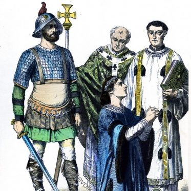 Karolinger.  Ritter, Bischof und Edelmann.