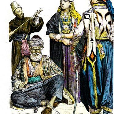 Derwisch, Bauer aus Syrien, Drusin, Kawasse.
