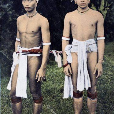 Kayan Häuptling aus Borneo um 1912