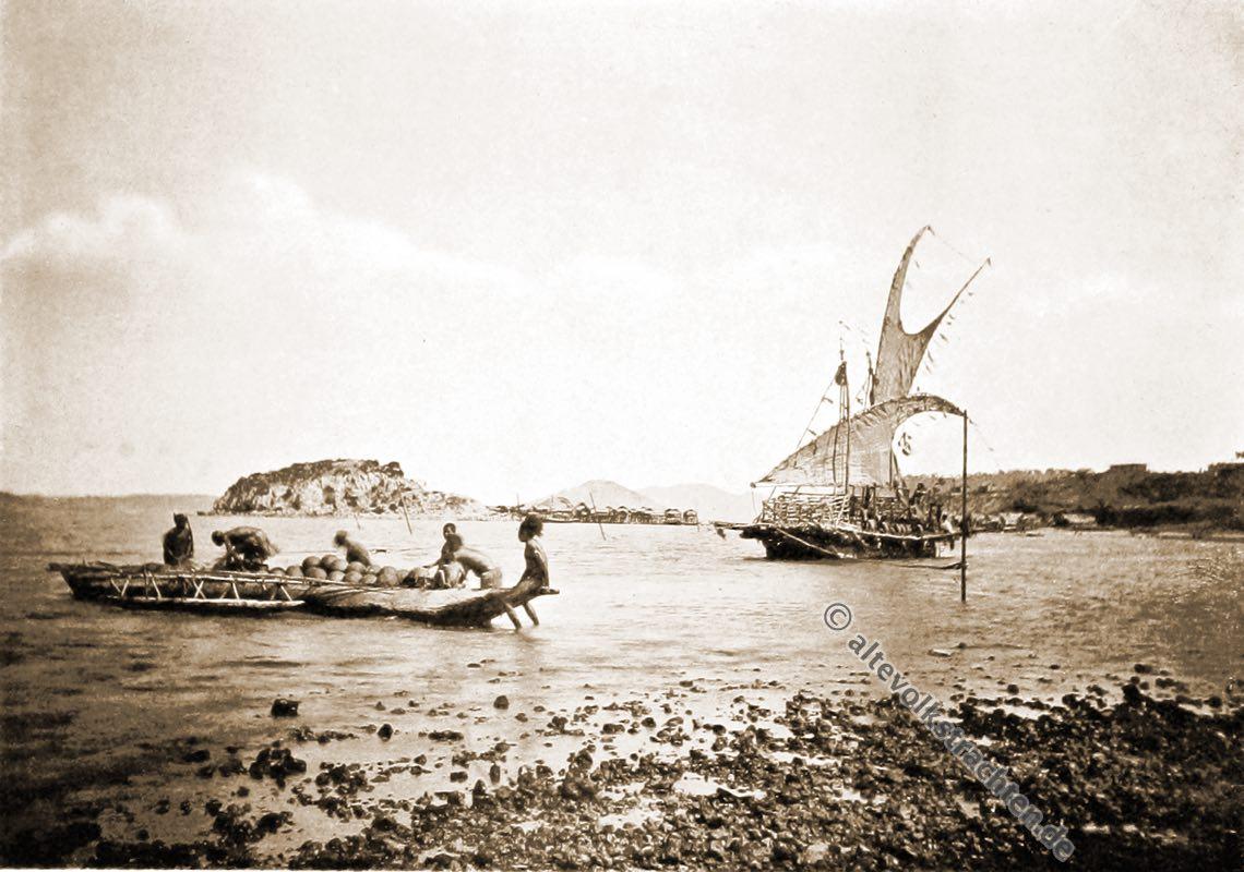 Lakatoi, Port, Moresby, Native, dress, Papuasia, Papua New Guinea, J. W. Lindt,