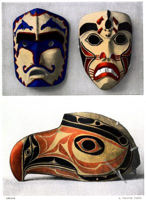 Masken, Vogel-Kopfmaske, Sitka, Zeremonie, Britisch-Kolumbien, Alaska, Kanada,