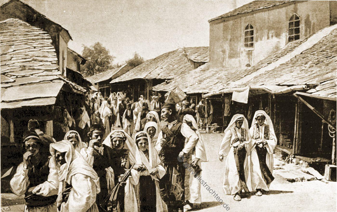 Basar, Mostar, Trachten, Bosnien, Herzegowina, Guillaume Capus, Reiseliteratur, Balkan