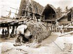 Mourners, dead house, Kalo, natives, Papuasia, Papua New Guinea, J. W. Lindt,