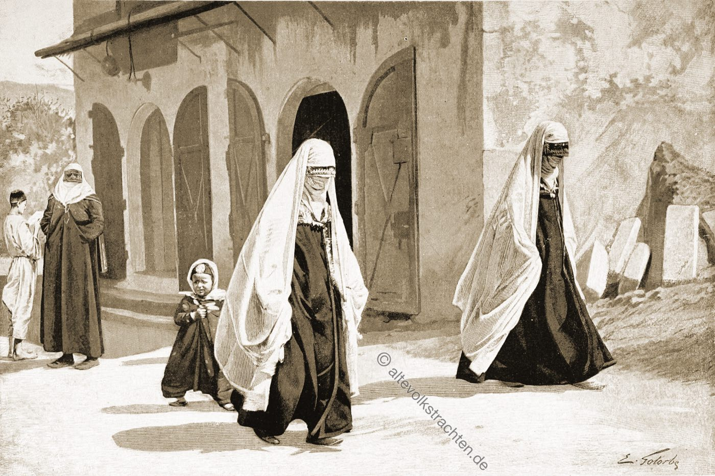 Muslimische Frauen, Trachten, Bosnien, Herzegowina, Guillaume Capus, Reiseliteratur, Balkan