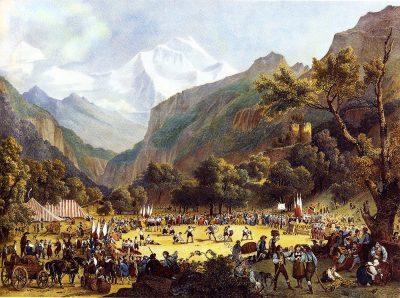 Unspunnenfest, Alphirtenfest, Schweiz, Trachten, Volksbrauch