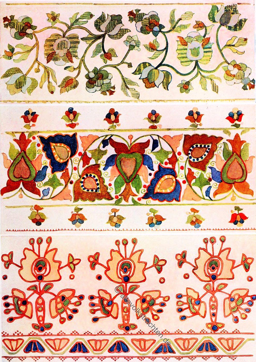Ukraine, Seidenstickerei, Design, Kostümgeschichte, Bauernkunst, Volkskunst, Motiv