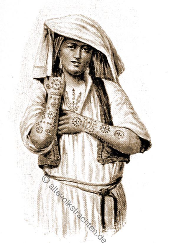 Tätowierung, Christlich, Christen, Trachten, Bosnien, Herzegowina, Guillaume Capus, Reiseliteratur, Balkan